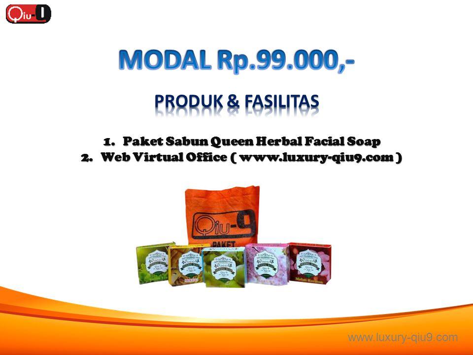 MODAL Rp.99.000,- PRODUK & FASILITAS