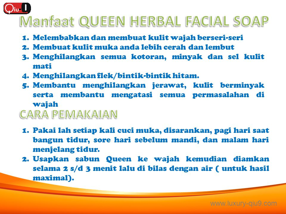 Manfaat QUEEN HERBAL FACIAL SOAP