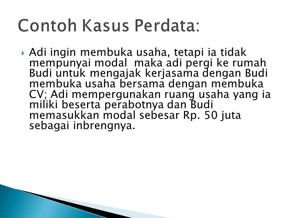Contoh Kasus Perdata: