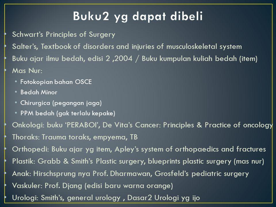 Buku2 yg dapat dibeli Schwart's Principles of Surgery