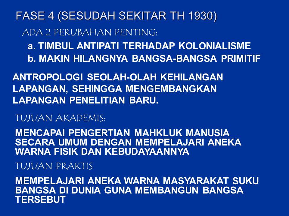 FASE 4 (SESUDAH SEKITAR TH 1930)