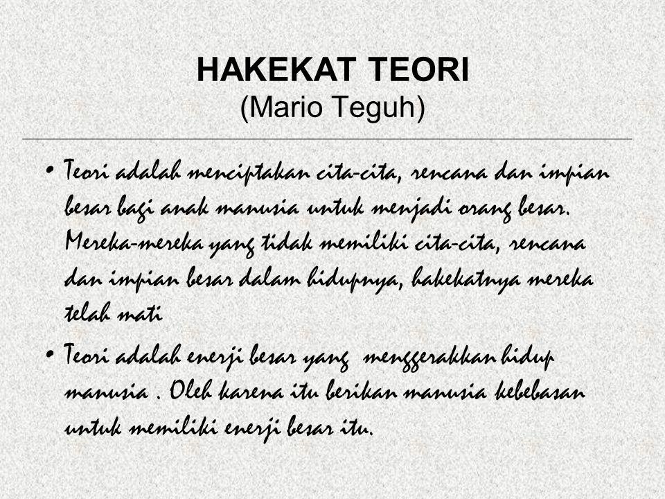 HAKEKAT TEORI (Mario Teguh)