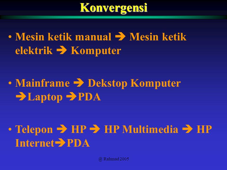 Konvergensi Mesin ketik manual  Mesin ketik elektrik  Komputer