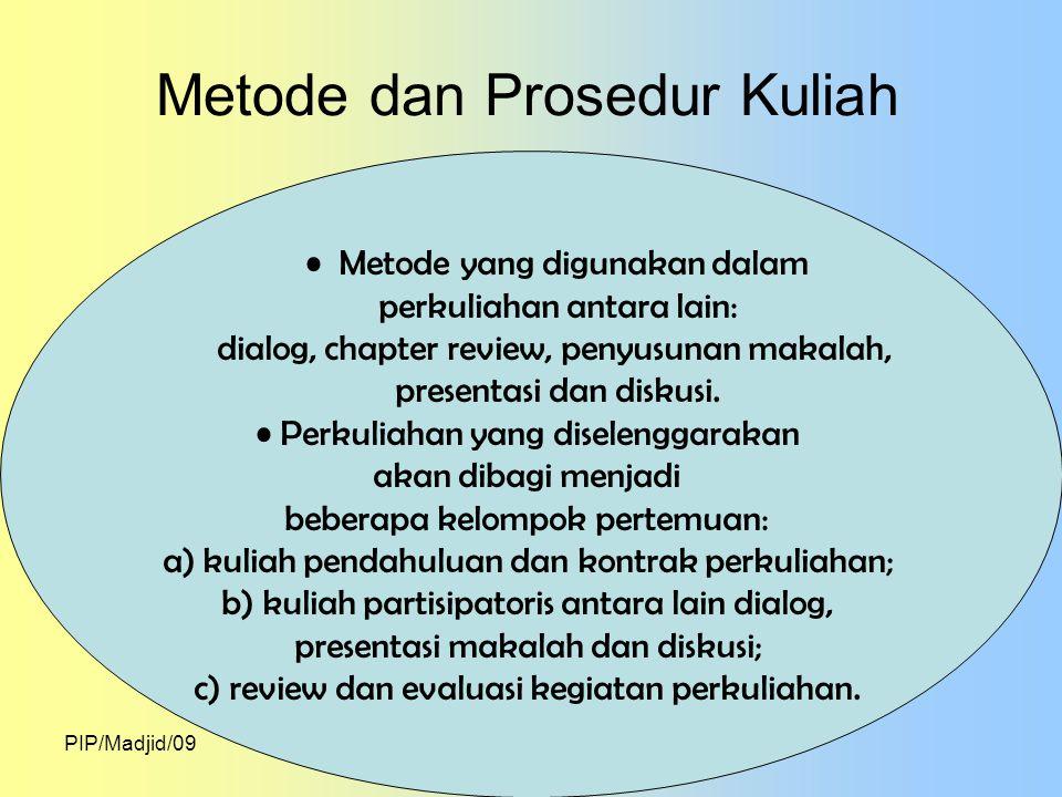 Metode dan Prosedur Kuliah