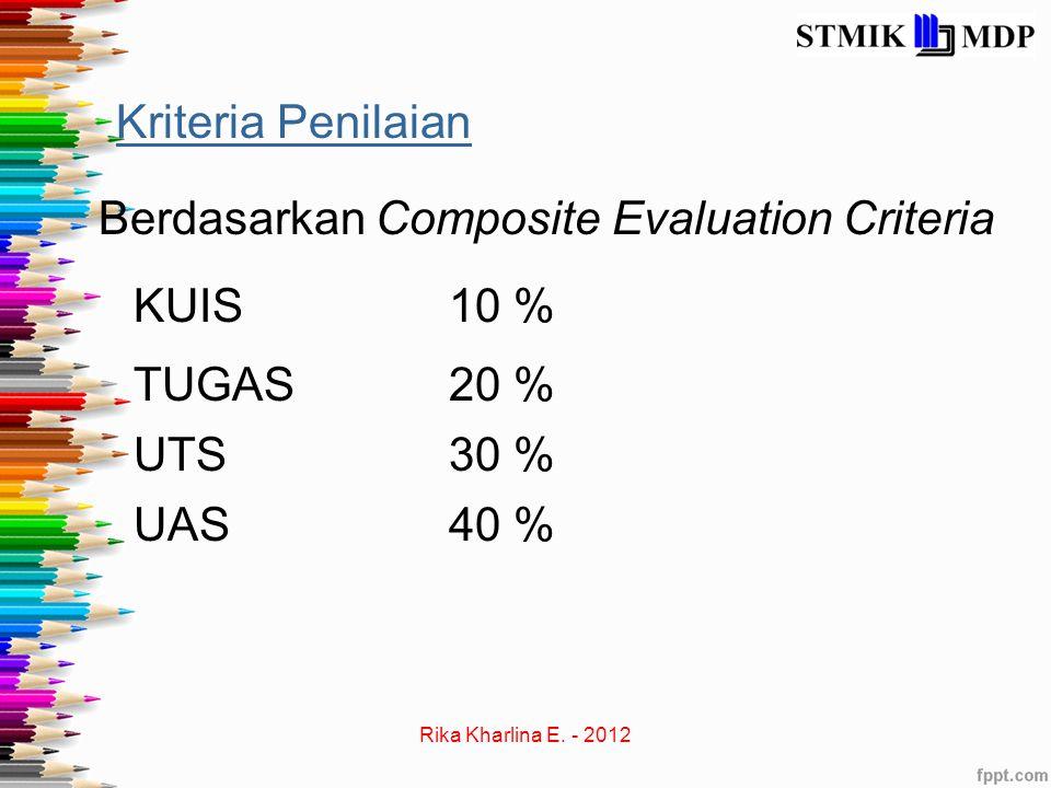 Berdasarkan Composite Evaluation Criteria