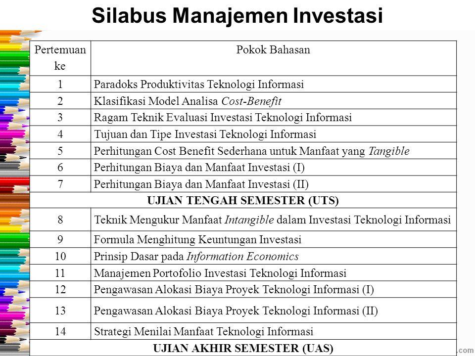 Silabus Manajemen Investasi