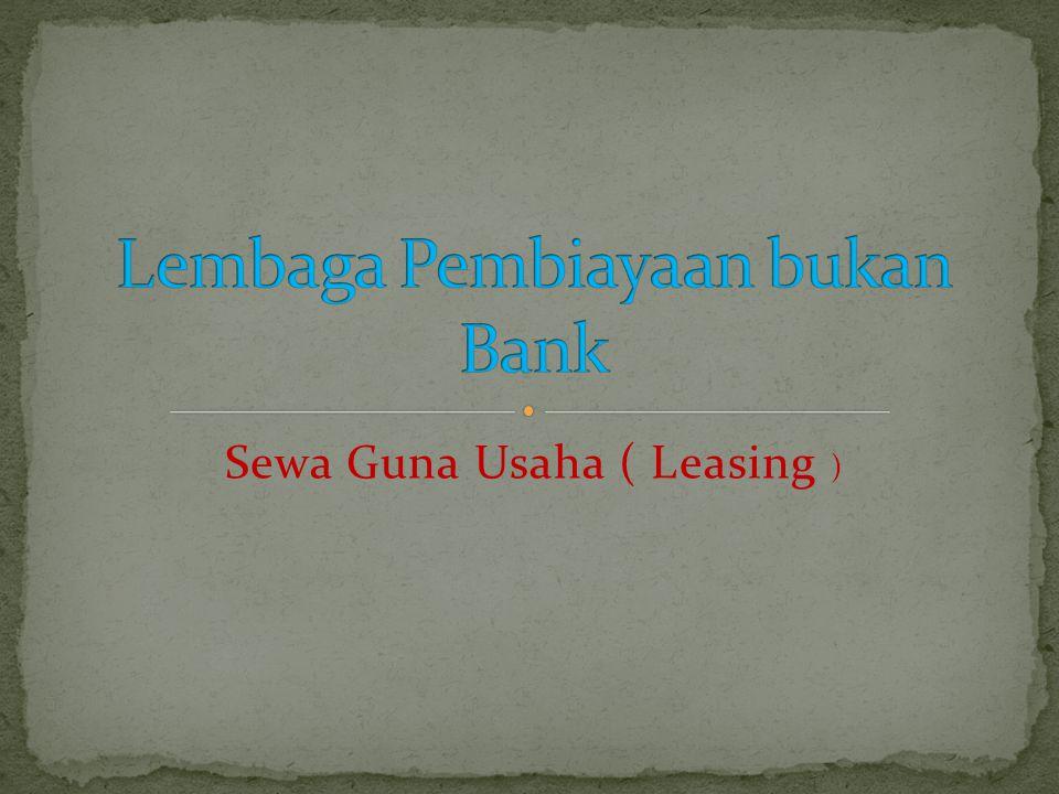 Lembaga Pembiayaan bukan Bank