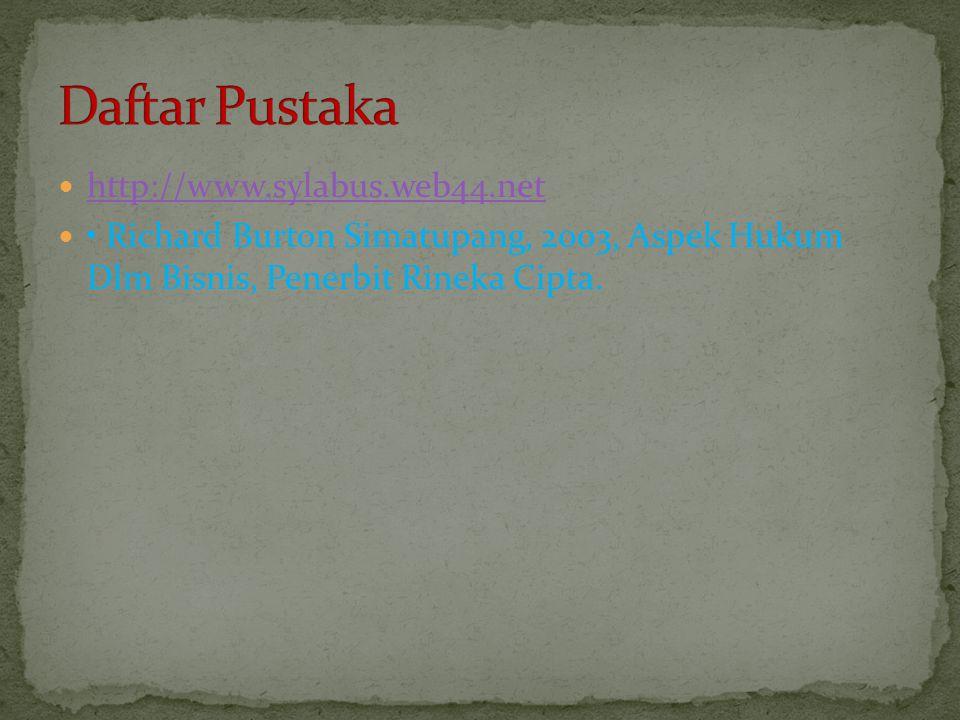 Daftar Pustaka http://www.sylabus.web44.net