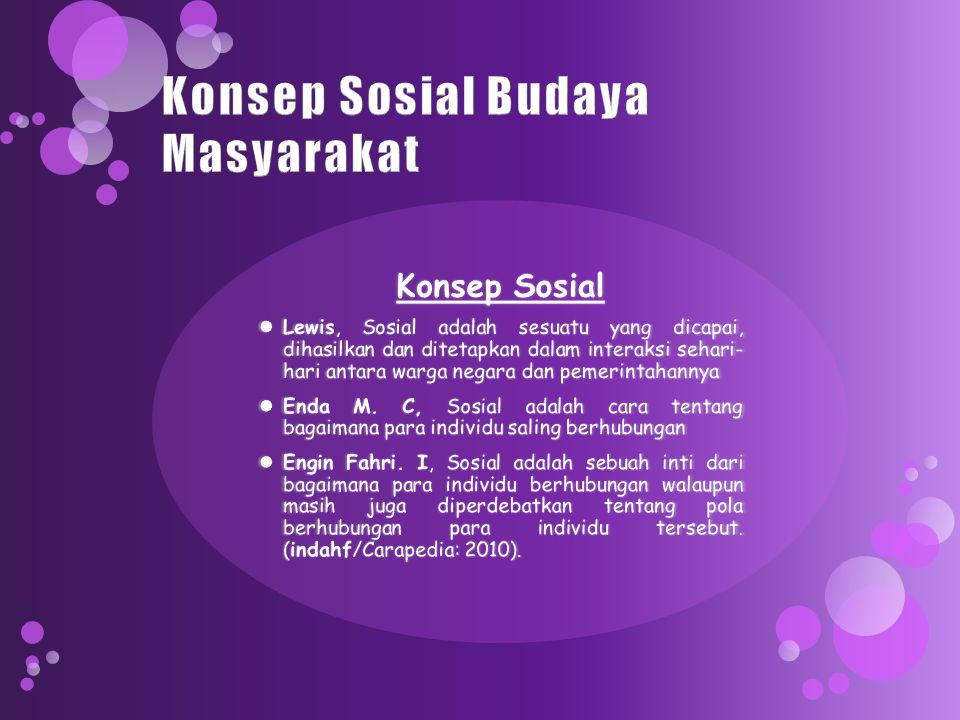 Konsep Sosial Budaya Masyarakat