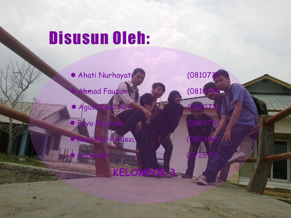 Disusun Oleh: KELOMPOK 3 Ahati Nurhayati (081073)