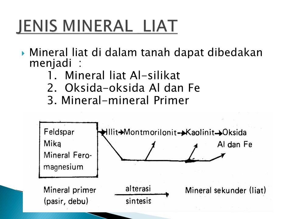 JENIS MINERAL LIAT 1. Mineral liat Al-silikat