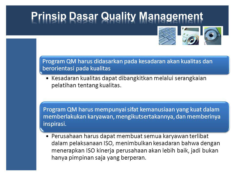 Prinsip Dasar Quality Management