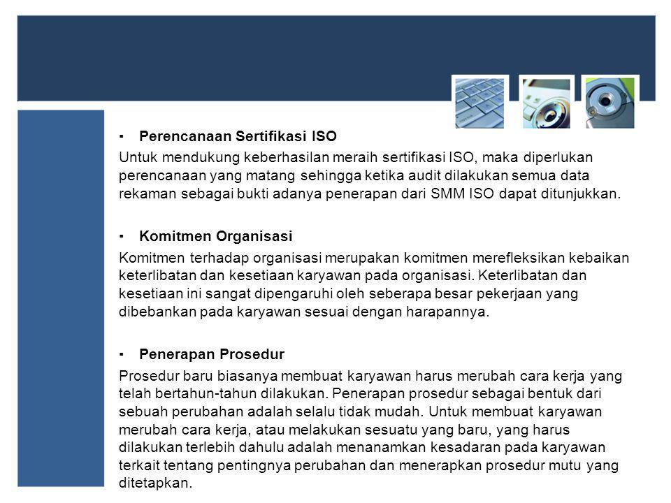 Perencanaan Sertifikasi ISO