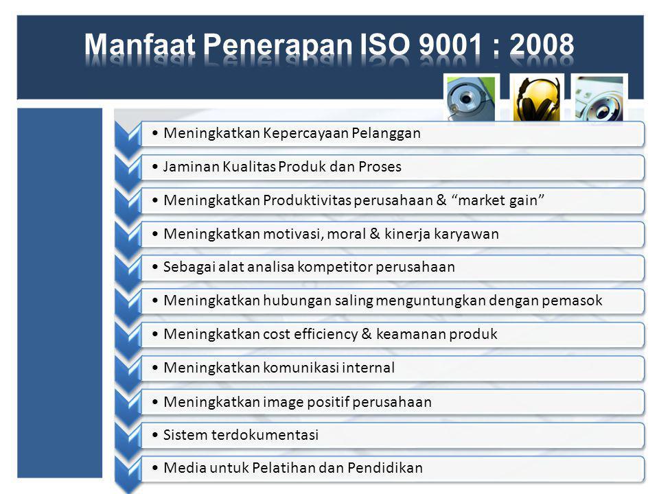 Manfaat Penerapan ISO 9001 : 2008