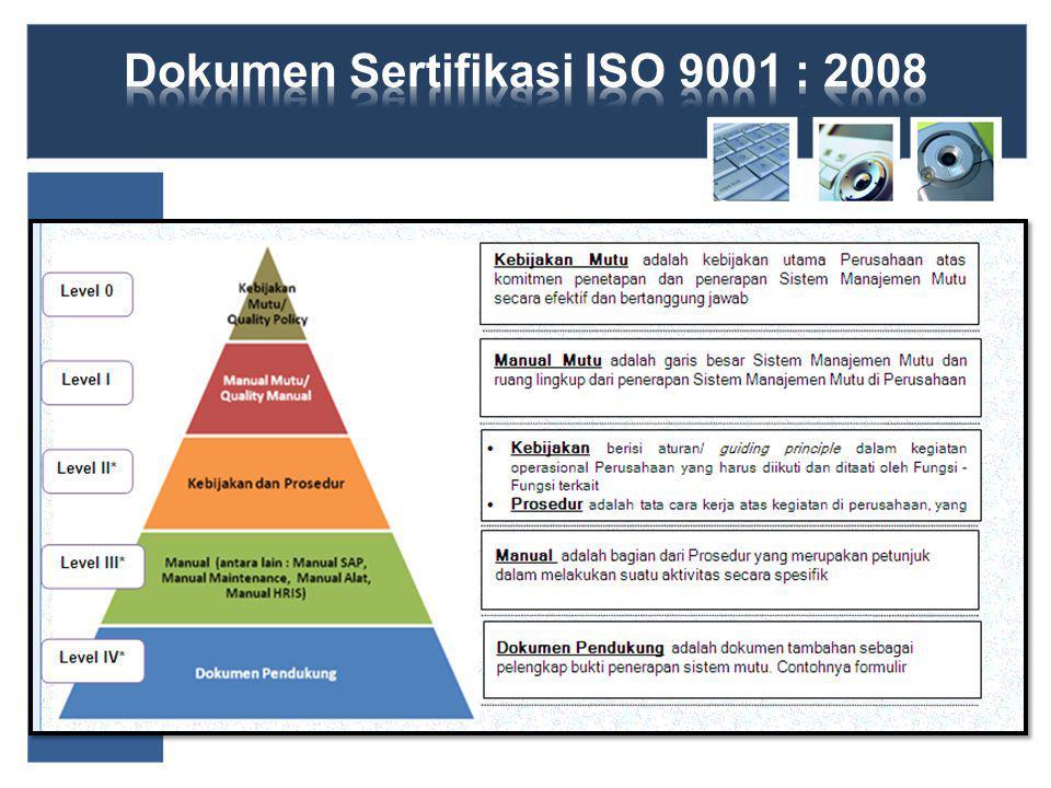 Dokumen Sertifikasi ISO 9001 : 2008