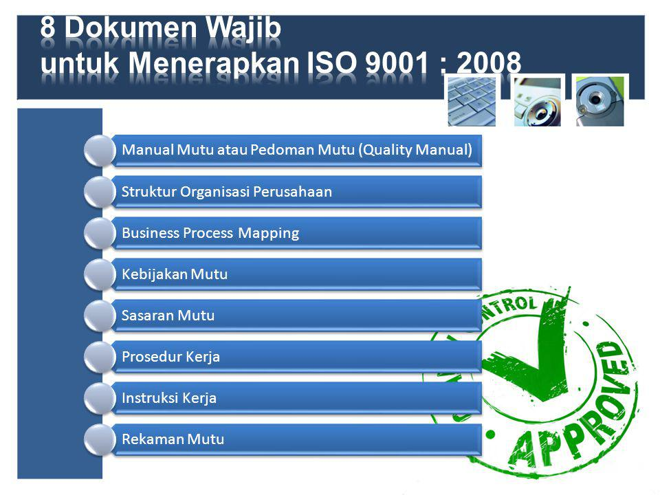 8 Dokumen Wajib untuk Menerapkan ISO 9001 : 2008