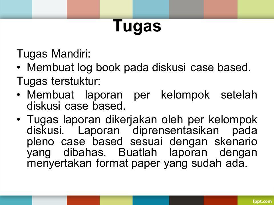 Tugas Tugas Mandiri: Membuat log book pada diskusi case based.