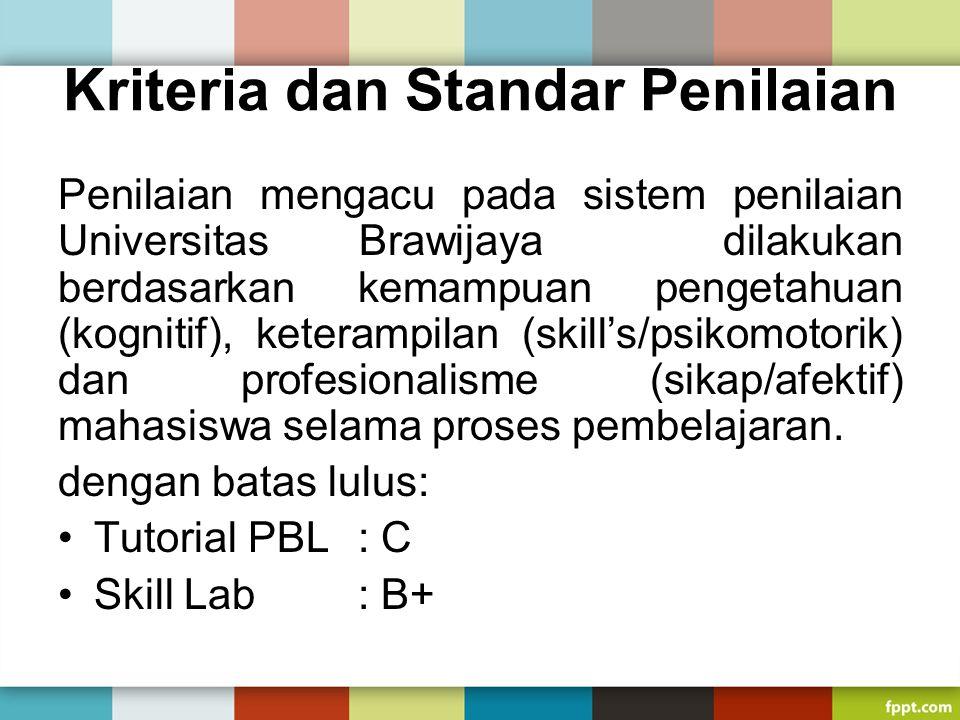 Kriteria dan Standar Penilaian