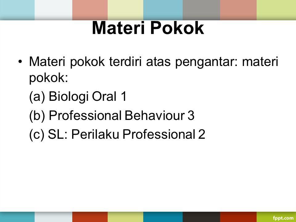 Materi Pokok Materi pokok terdiri atas pengantar: materi pokok: