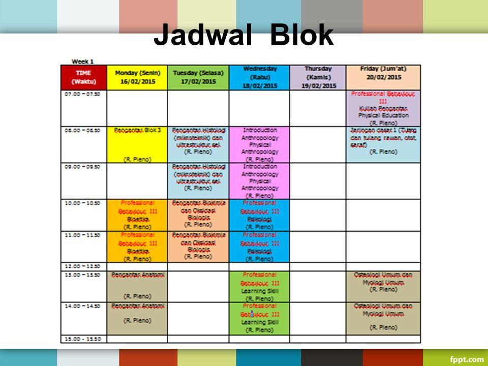 Jadwal Blok