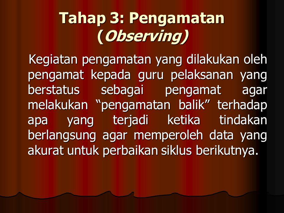 Tahap 3: Pengamatan (Observing)