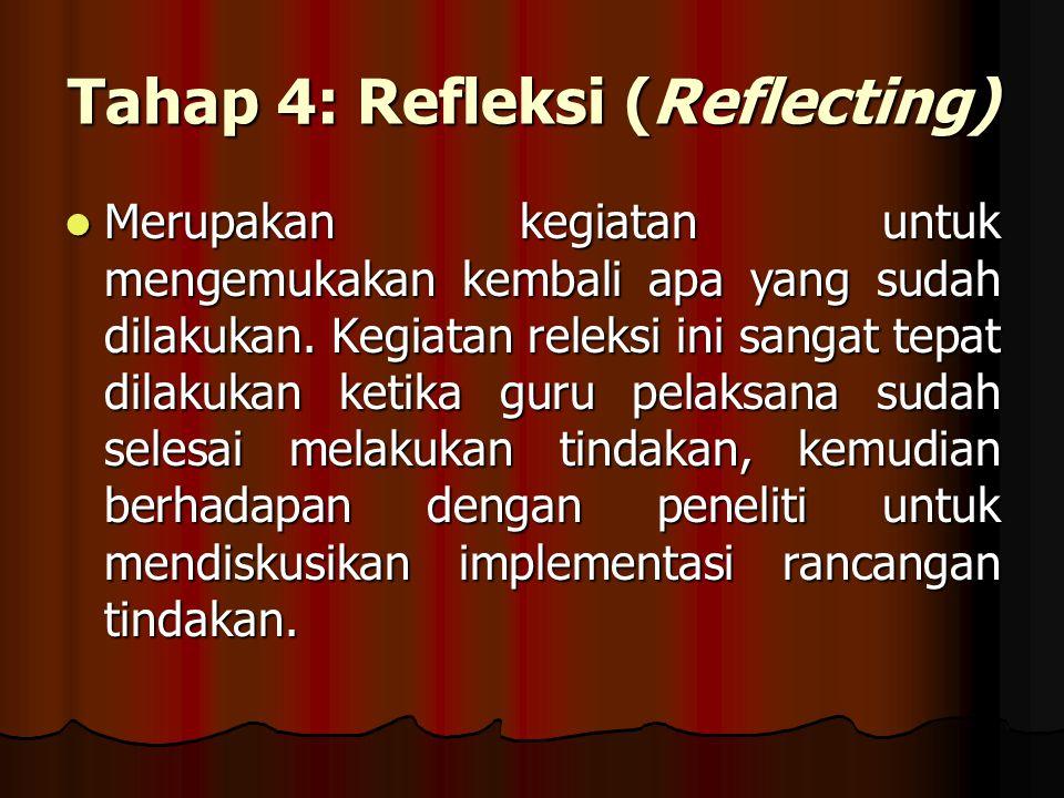 Tahap 4: Refleksi (Reflecting)