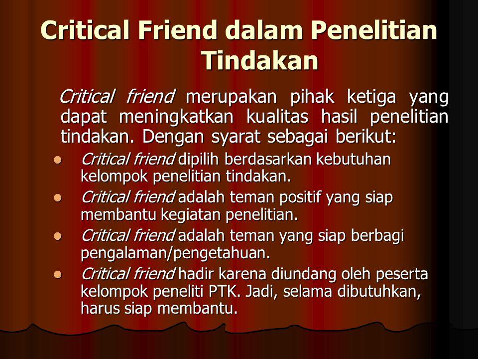 Critical Friend dalam Penelitian Tindakan