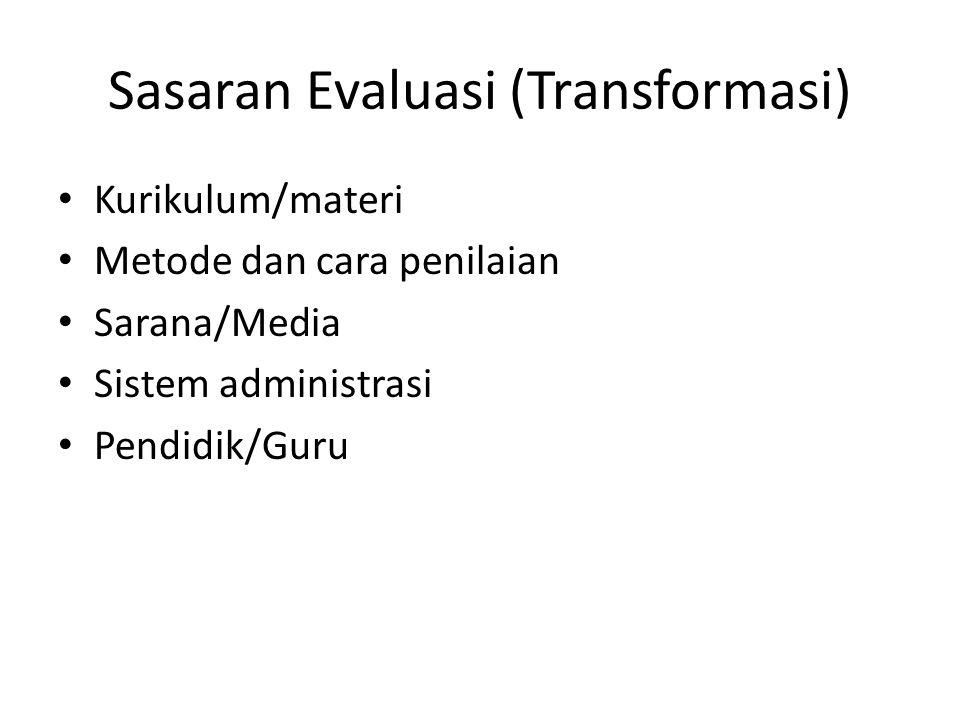 Sasaran Evaluasi (Transformasi)