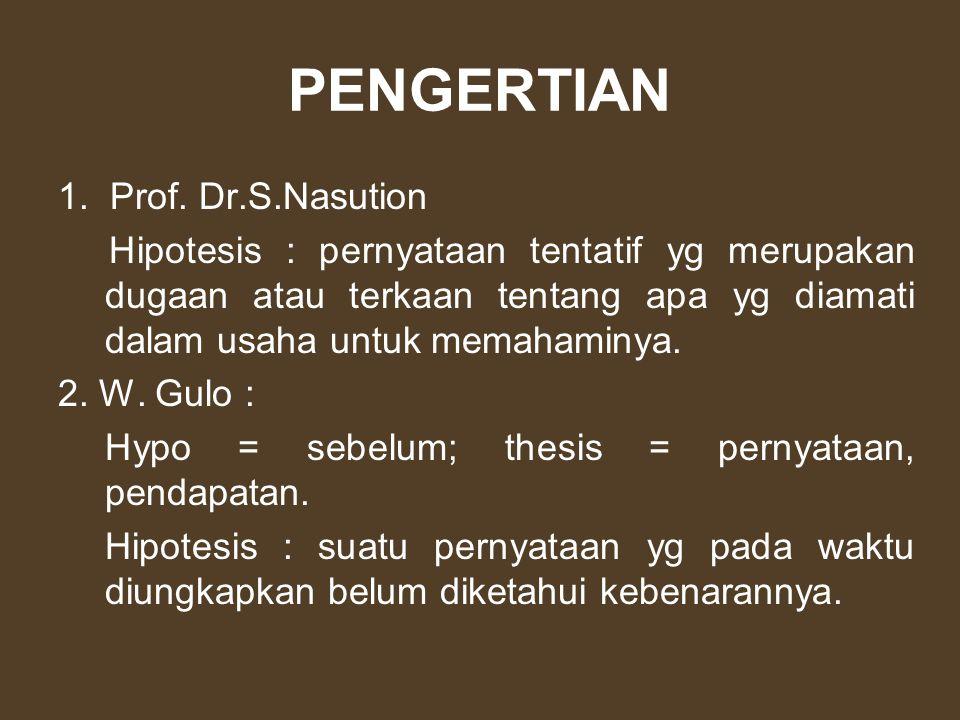 PENGERTIAN 1. Prof. Dr.S.Nasution