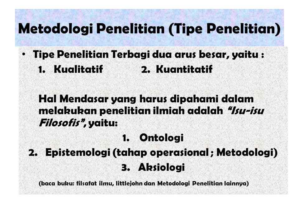 Metodologi Penelitian (Tipe Penelitian)