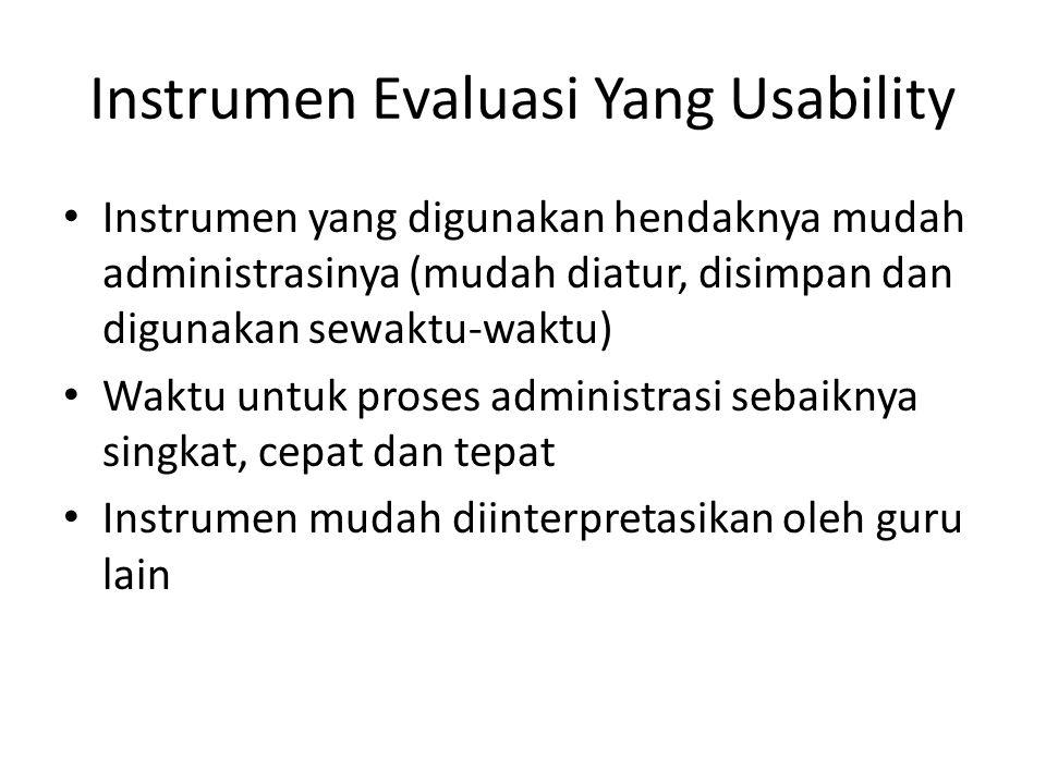 Instrumen Evaluasi Yang Usability