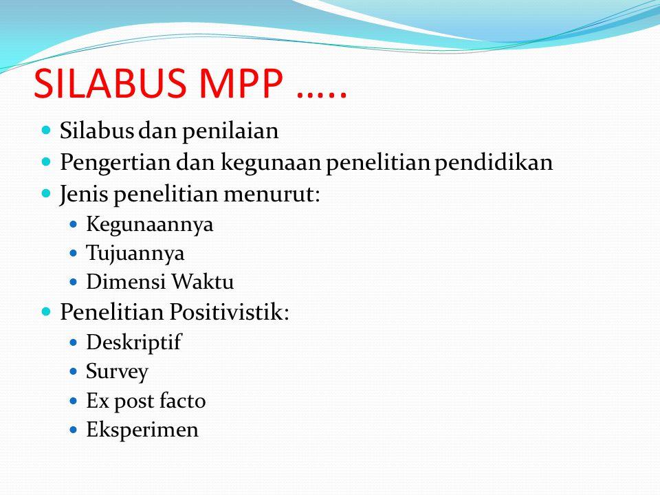 SILABUS MPP ….. Silabus dan penilaian