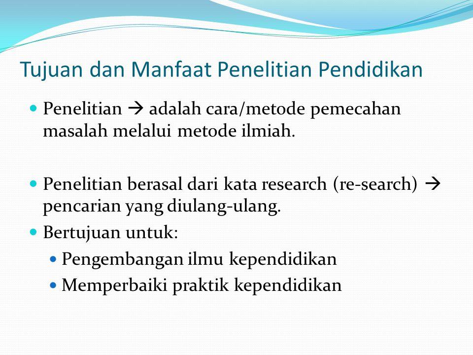 Tujuan dan Manfaat Penelitian Pendidikan