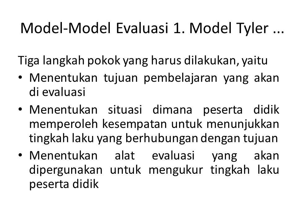 Model-Model Evaluasi 1. Model Tyler ...