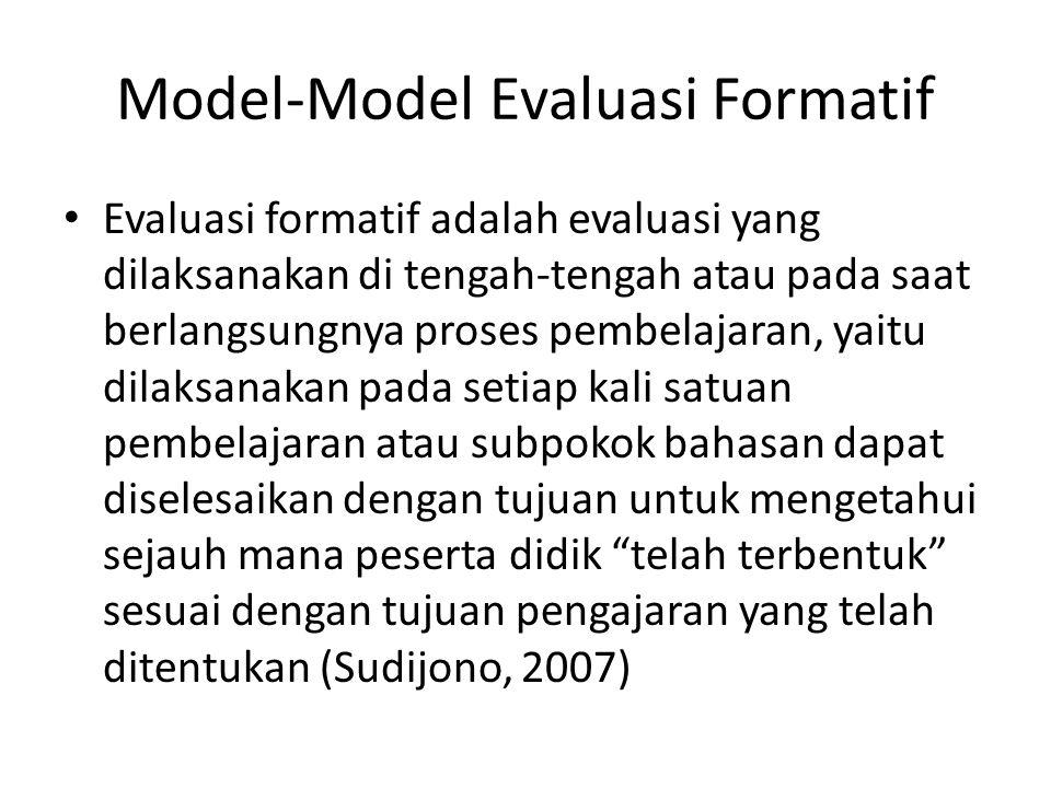Model-Model Evaluasi Formatif