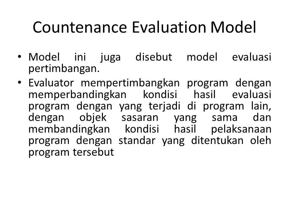 Countenance Evaluation Model