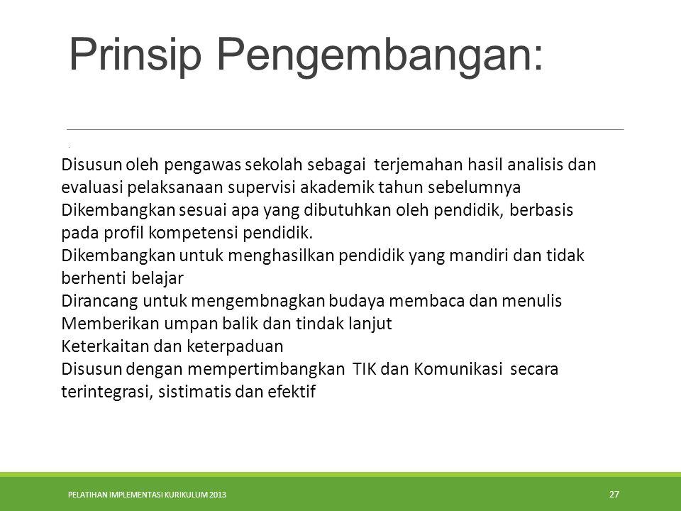Prinsip Pengembangan: