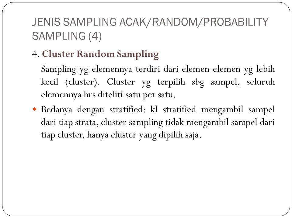 JENIS SAMPLING ACAK/RANDOM/PROBABILITY SAMPLING (4)