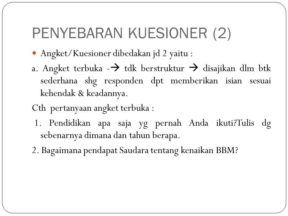 PENYEBARAN KUESIONER (2)