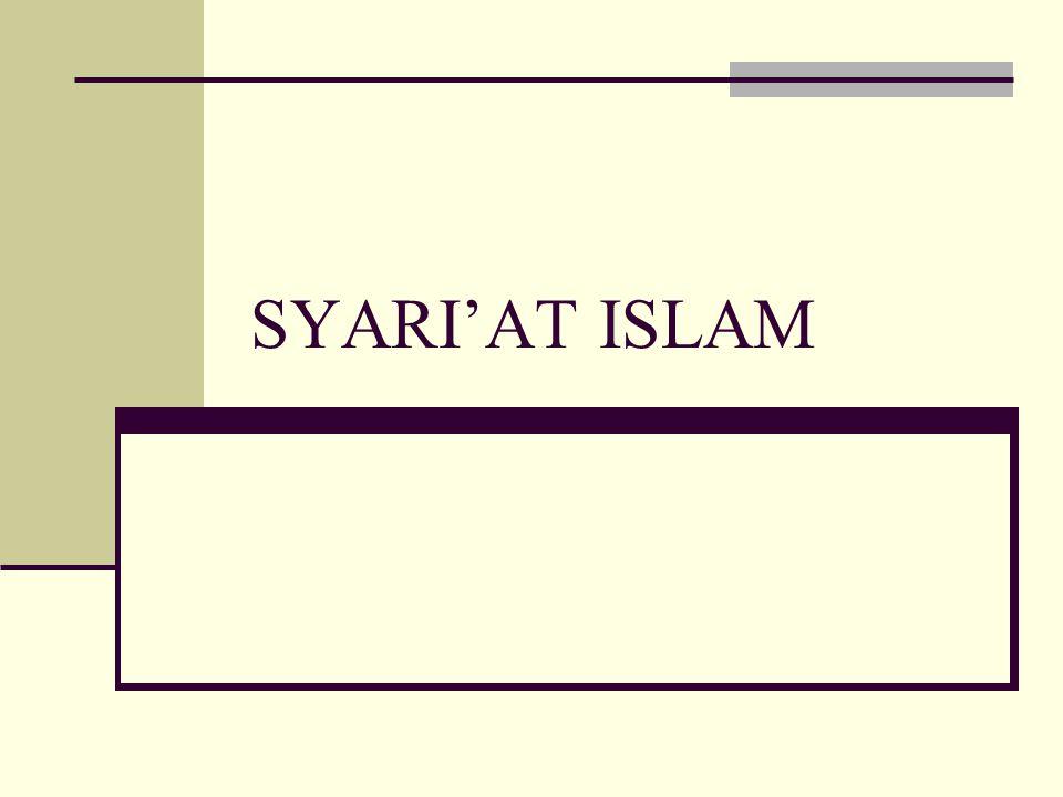 SYARI'AT ISLAM