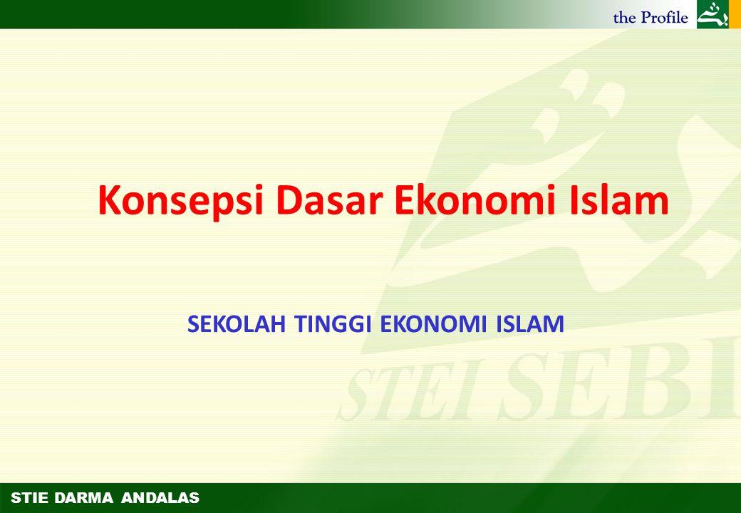 Konsepsi Dasar Ekonomi Islam