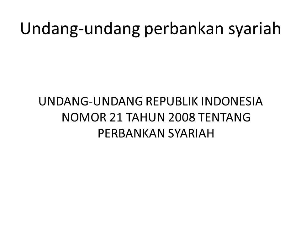 Undang-undang perbankan syariah