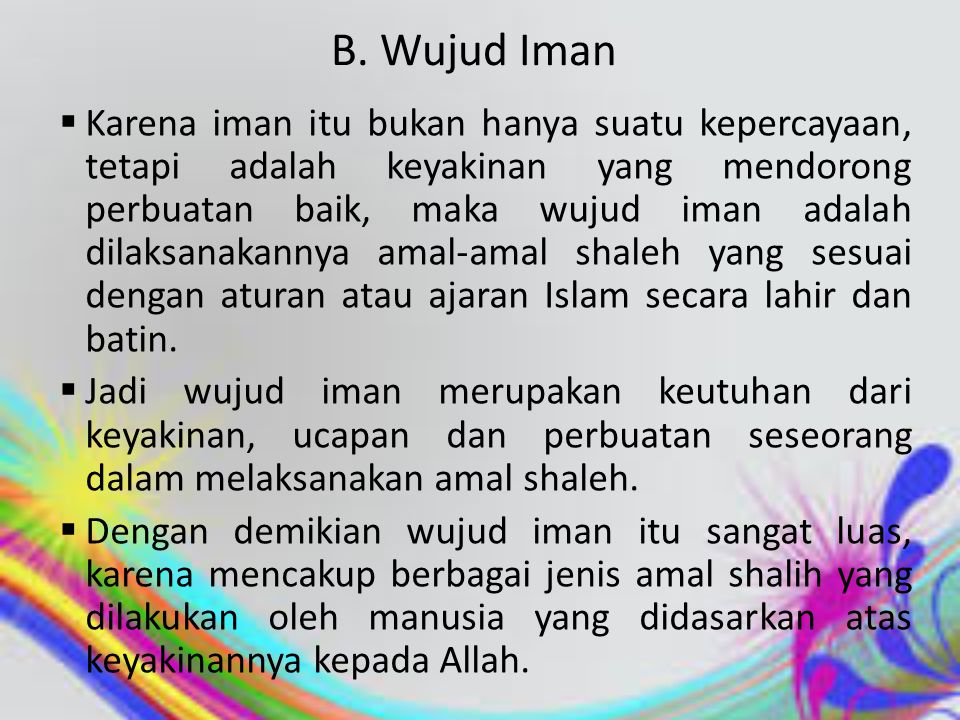 B. Wujud Iman
