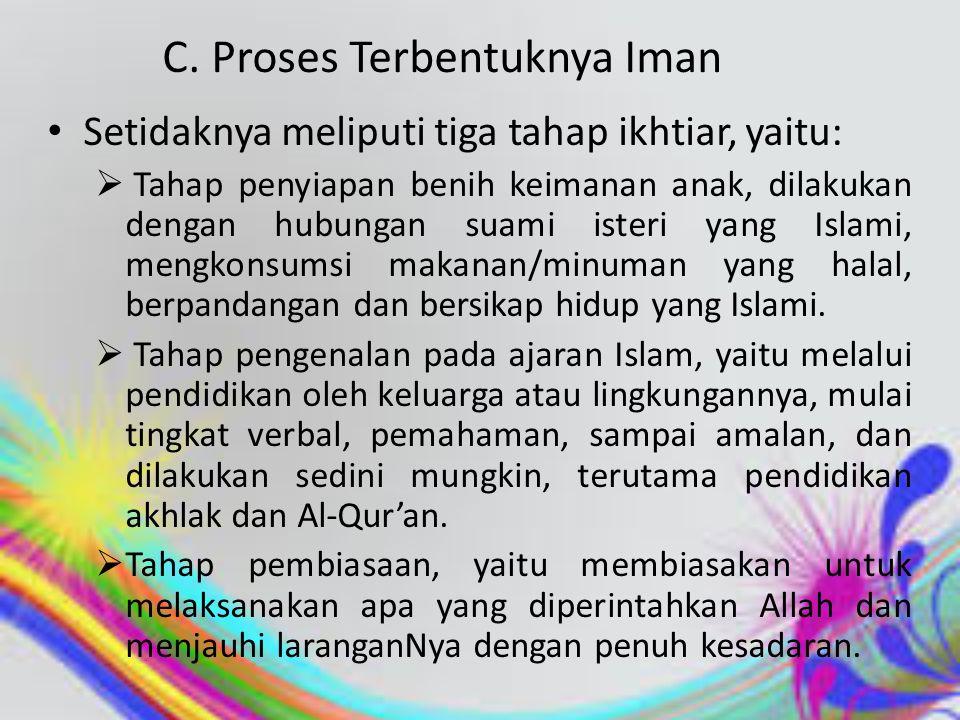 C. Proses Terbentuknya Iman
