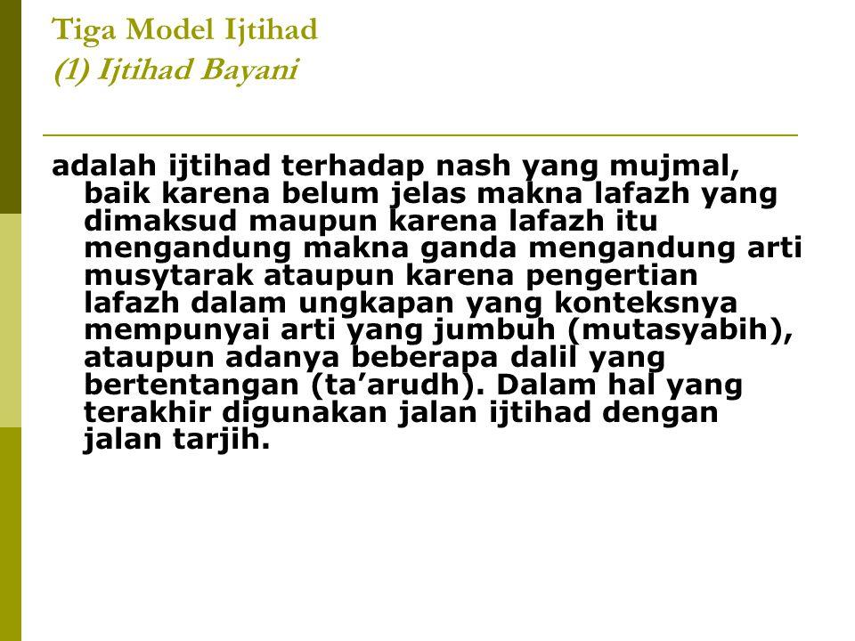 Tiga Model Ijtihad (1) Ijtihad Bayani