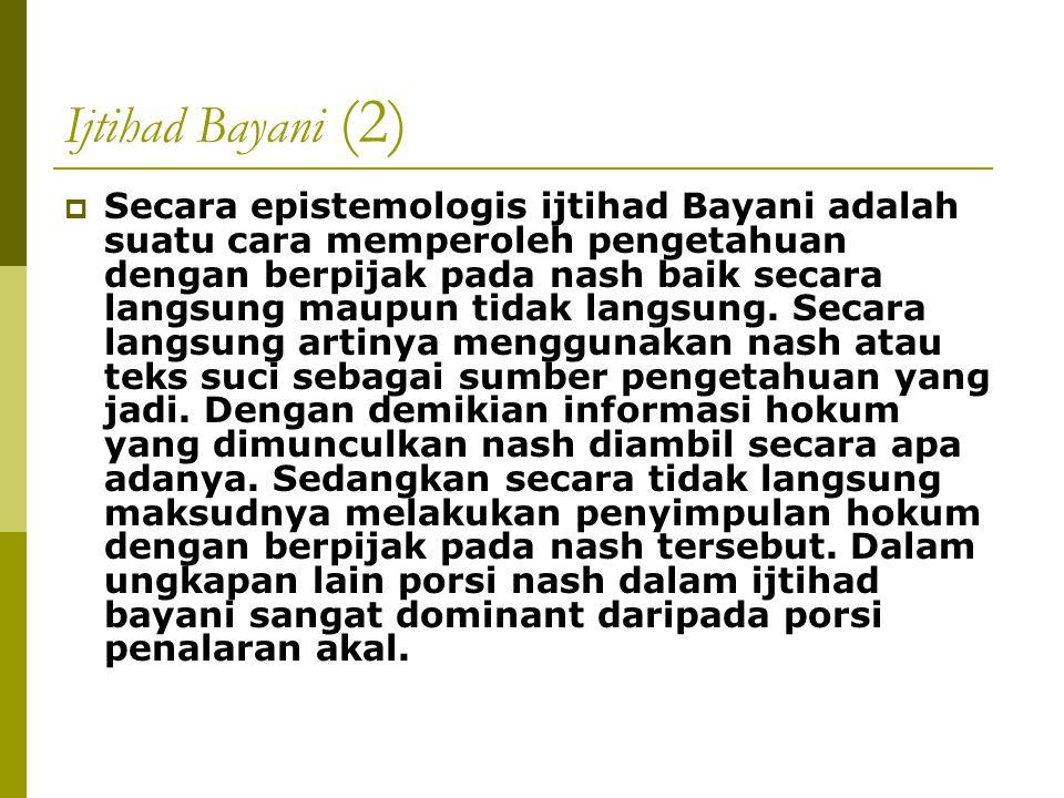 Ijtihad Bayani (2)