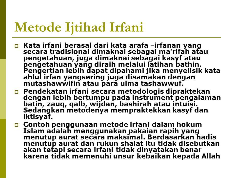 Metode Ijtihad Irfani