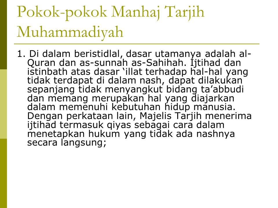 Pokok-pokok Manhaj Tarjih Muhammadiyah