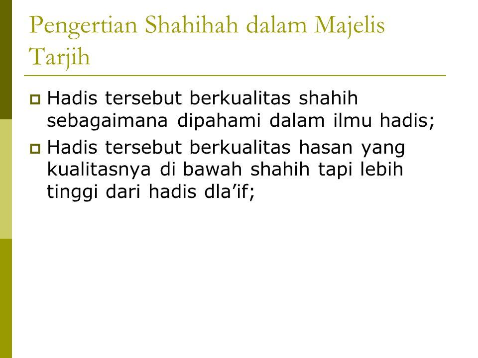 Pengertian Shahihah dalam Majelis Tarjih