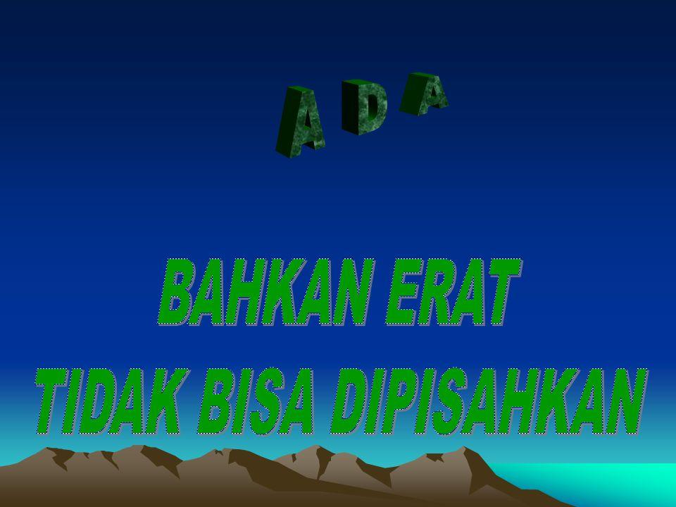 A D A BAHKAN ERAT TIDAK BISA DIPISAHKAN